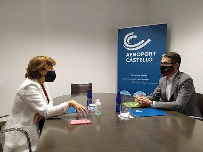 El aeropuerto de Castellón y CEEI Castellón abren vías de colaboración para promover proyectos innovadores
