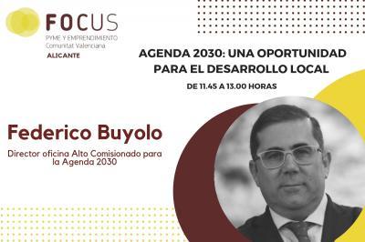 Federico Buyolo mostrarà les oportunitats de desenvolupament local de la Agenda 2030