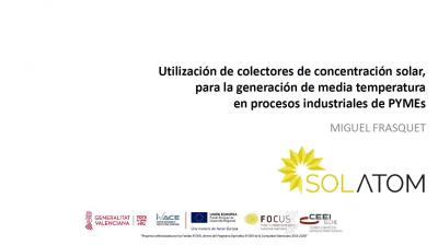 Utilització de col·lectors de concentració solar per a la generació de…