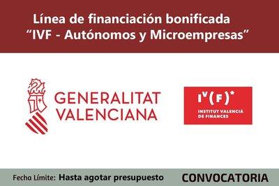 """Línea de financiación bonificada """"IVF - Autónomos y Microempresas"""""""