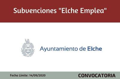 """Subvenciones """"Elche Emplea"""""""
