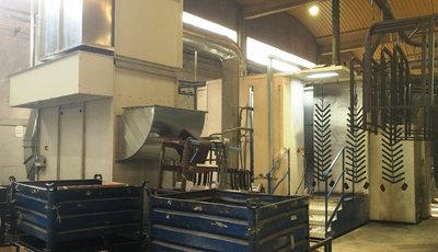 Cabina de pintura en polvo de Hilding Anders