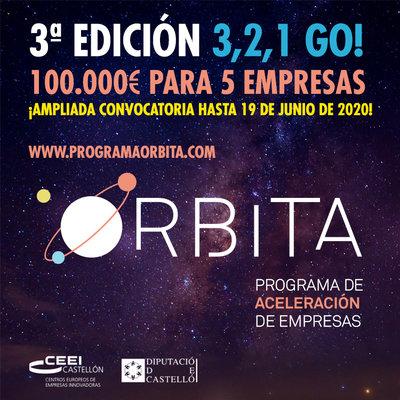 El Programa Órbita amplía hasta el 19 de junio el plazo para optar a sus 100.000 € en premios