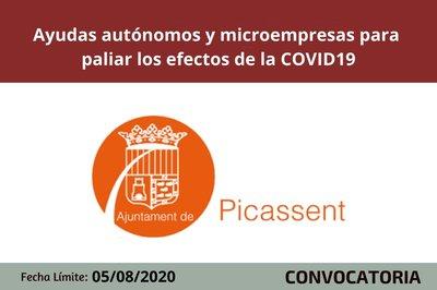 Ayudas para autónomos y micropymes Picassent