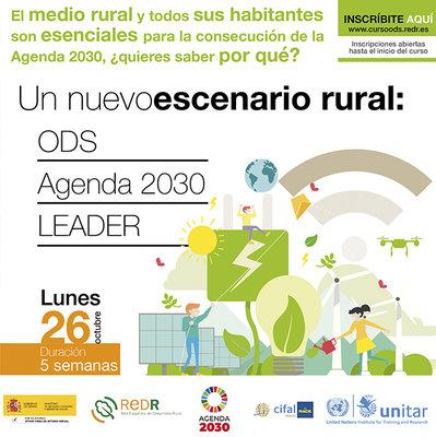 """REDR lanza el curso """"Un nuevo escenario rural: ODS, Agenda 2030 y LEADER"""""""
