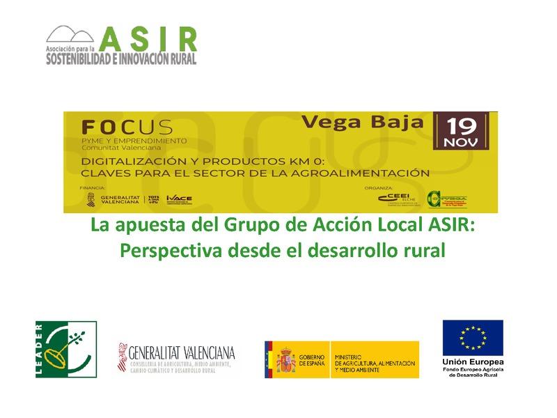 La apuesta del Grupo de Acción Local ASIR: Perspectiva desde el desarrollo rural