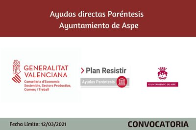 Ayudas Económicas Covid 19 - Ayuntamiento  de Aspe