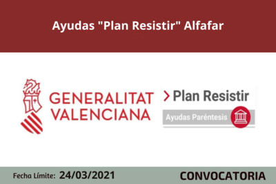 "Ayudas ""Plan Resistir"" en Alfafar"