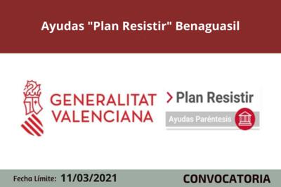 """Ayudas """"Plan Resistir"""" en Benaguasil"""