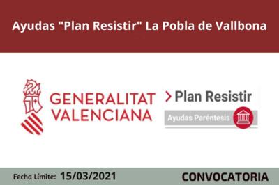 """Ayudas """"Plan Resistir"""" en la Pobla de Vallbona"""