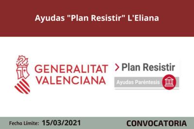 """Ayudas """"Plan Resistir"""" en L'Eliana"""