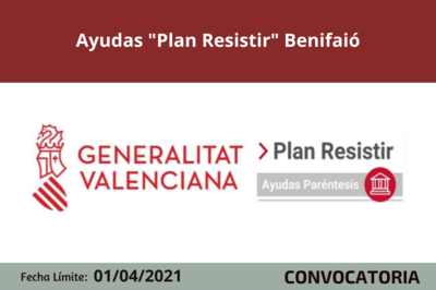 "Ayudas ""Plan Resistir"" en Benifaió"