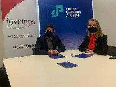 Firma convenio Jovempa y Parque Científico UA