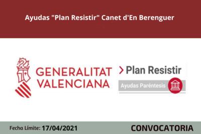 "Ayudas ""Plan Resistir"" Canet d'En Berenguer"