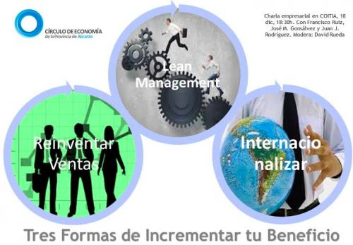 Tres maneras de incrementar el beneficio