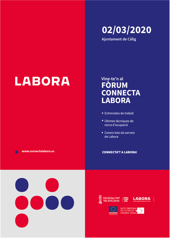 Connecta Labora. FORUM CALIG 2/03/20 .  Obsedi Maestrat Litoral